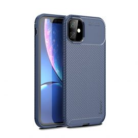iPhone 11 Hoesje (Donkerblauw) · Carbon Fiber Back Cover  · By iPaky