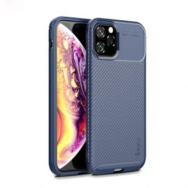 iPhone 11 Pro Max Hoesje (Donkerblauw) · Carbon Fiber Back Cover  · By iPaky
