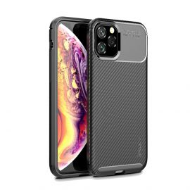 iPhone 11 Pro Max Hoesje (Zwart) · Carbon Fiber Back Cover  · By iPaky