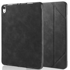 iPad Air (2020) en iPad Pro (2018) hoesje - Zwart PU-leer - DG.Ming