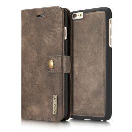 iPhone 6 en 6S Plus Leren Portemonnee Hoesje - Bruine 2-in-1 Cover - DG.Ming