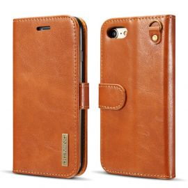 iPhone SE (2020) / 8 / 7 Leren Portemonnee Hoesje - Camel 2-in-1 Cover - DG.Ming