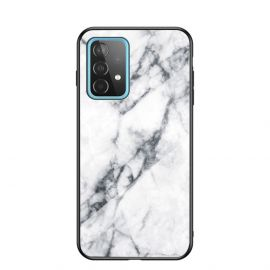 Samsung Galaxy A52 Hoesje Wit Marmer - Cacious (Marble Serie)