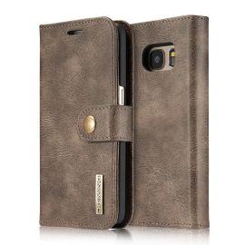 Samsung Galaxy S7 Leren Portemonnee Hoesje - Bruine 2-in-1 Cover - DG.Ming