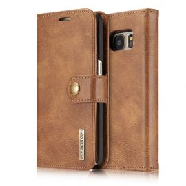 Samsung Galaxy S7 Leren Portemonnee Hoesje - Camel 2-in-1 Cover - DG.Ming