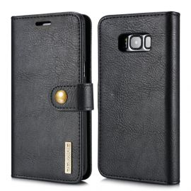 Samsung Galaxy S8 Leren Portemonnee Hoesje - Zwarte 2-in-1 Cover - DG.Ming