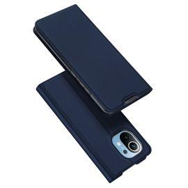 Xiaomi Mi 11 Bookcase Hoesje Donkerblauw - Dux Ducis (Skin Serie)