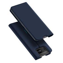 Asus Zenfone 7 (en 7 Pro) Bookcase Hoesje Donkerblauw - Dux Ducis (Skin Serie)