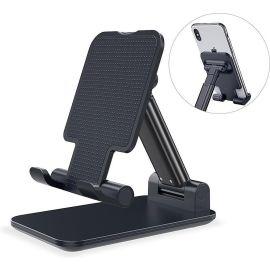 Telefoon- en tabletstandaard voor desktop - zwart