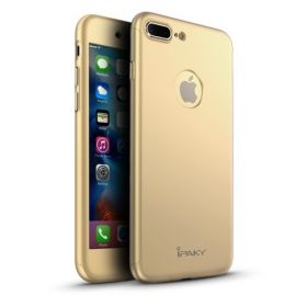 iPhone 8 Plus Hoesje Goud · Full Body Cover · 360º Cover incl. Screen Protector by iPaky
