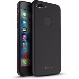 iPhone 8 Plus Hoesje Zwart · Full Body Cover · 360º Cover incl. Screen Protector by iPaky