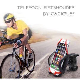 Fiets/motor telefoonhouder universeel · Past op elk stuur · Cacious