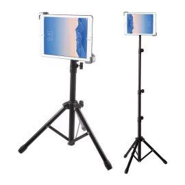 Tablet tripod houder universeel · Verstelbare standaard o.a. voor iPad en Samsung Galaxy Tab