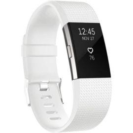 Siliconen Polsbandje voor Fitbit Charge 2 - Gespsluiting - Wit / Small