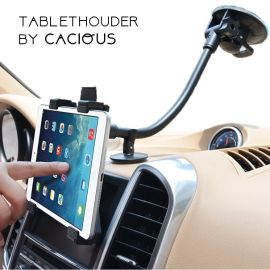 Auto tablethouder universeel · Dashboard en voorruit bevestiging · Cacious