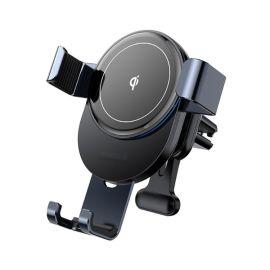 Telefoonhouder met Draadloze Oplader (15W Snellader) - Ventilatierooster Bevestiging