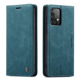 Samsung Galaxy A52 Slank Book Case Hoesje Donkerblauw - Caseme (013 Serie)