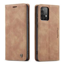 Samsung Galaxy A52 Slank Book Case Hoesje Bruin - Caseme (013 Serie)