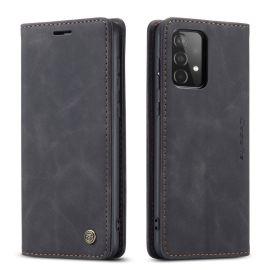 Samsung Galaxy A52 Slank Book Case Hoesje Zwart - Caseme (013 Serie)