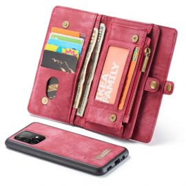 Samsung Galaxy A52 Rood Hoesje met Portemonnee - Caseme (2-in-1 Serie)