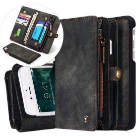 iPhone 7 Plus en 8 Plus Hoesje Zwart · Luxury Wallet Case · Portemonnee hoes by CaseMe