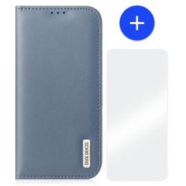 iPhone 13 Mini Leren Hoesje met Portemonnee - Zakelijk Blauw - Dux Ducis (Hivo Serie)