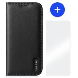 iPhone 13 Pro Leren Hoesje met Portemonnee - Zakelijk Zwart - Dux Ducis (Hivo Serie)