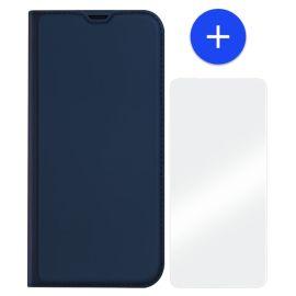 iPhone 13 Bookcase Hoesje Donkerblauw - Dux Ducis (Skin Serie)