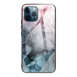 iPhone 13 Pro Max Hoesje Roze / Blauw Marmer - Cacious (Marble Serie)