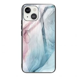 iPhone 13 Mini Hoesje Blauw Marmer - Cacious (Marble Serie)