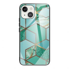 iPhone 13 Hoesje Mint Groen Marmer - Cacious (Marble Serie)