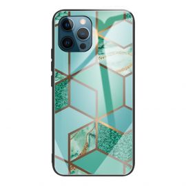 iPhone 13 Pro Max Hoesje Mint Groen Marmer - Cacious (Marble Serie)
