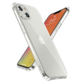iPhone 13 Mini Transparant Hoesje met Schokdempers - Cacious (Basic Serie)