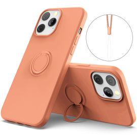 iPhone 13 Pro Max Dun Hoesje - Perzik Oranje - Cacious (Nude Serie)