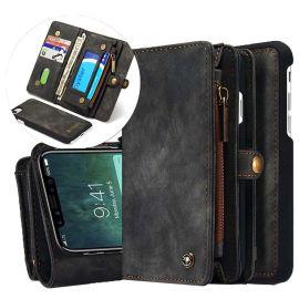 iPhone X Hoesje Zwart · Luxury Wallet Case · Portemonnee hoes by CaseMe