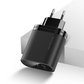 Zwarte Kuulaa 36W oplader met usb-C en usb-A poort - Power Delivery / QC 3.0