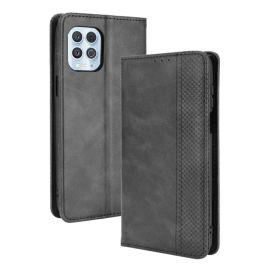 Motorola Moto G100 Portemonnee Hoesje Zwart - Cacious (Wallet Serie)