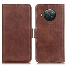 Nokia X10/X20 Portemonnee Hoesje Bruin - Cacious (Wallet Serie)