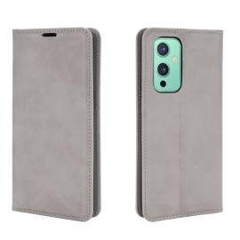 OnePlus 9 Portemonnee Hoesje Grijs - Cacious (Wallet Serie)