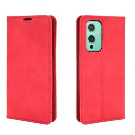 OnePlus 9 Portemonnee Hoesje Rood - Cacious (Wallet Serie)