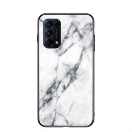Oppo Find X3 Lite Hoesje Wit Marmer - Cacious (Marble Serie)
