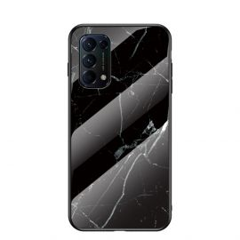 Oppo Find X3 Lite Hoesje Zwart Marmer - Cacious (Marble Serie)