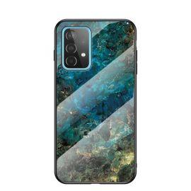 Samsung Galaxy A52 Hoesje Groen Marmer - Cacious (Marble Serie)