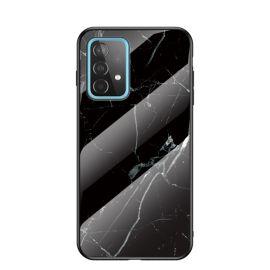 Samsung Galaxy A52 Hoesje Zwart Marmer - Cacious (Marble Serie)