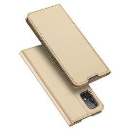 Samsung Galaxy A52 Bookcase Hoesje Beige - Dux Ducis (Skin Serie)