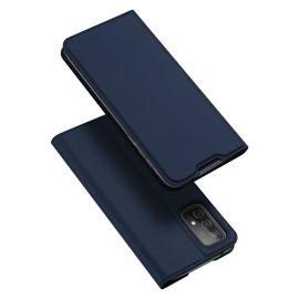 Samsung Galaxy A52 Bookcase Hoesje Donkerblauw - Dux Ducis (Skin Serie)