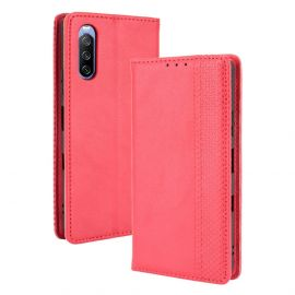 Sony Xperia 10 III Portemonnee Hoesje Rood - Cacious (Wallet Serie)