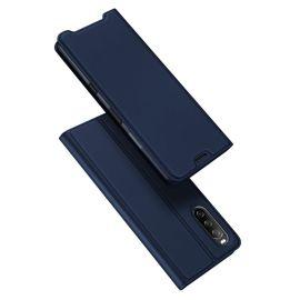 Sony Xperia 10 III Bookcase Hoesje Donkerblauw - Dux Ducis (Skin Serie)