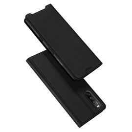 Sony Xperia 10 III Bookcase Hoesje Zwart - Dux Ducis (Skin Serie)