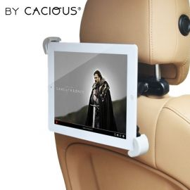 Auto tablethouder universeel · Hoofdsteun bevestiging · Cacious